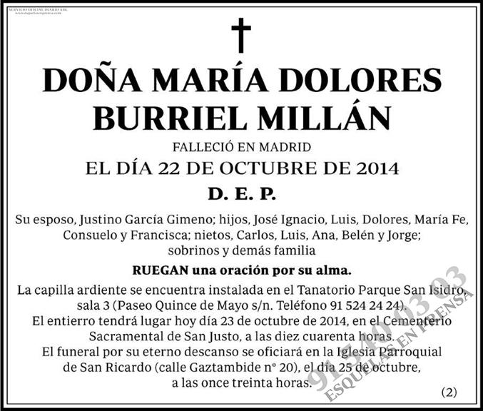 María Dolores Burriel Millán